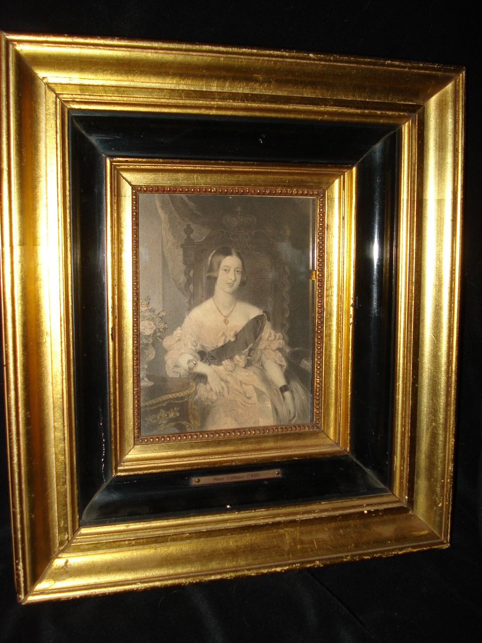 Rare French Miniature Engraving Queen Victoria