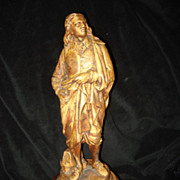 Cast Wooden Sculpture Of John Milton