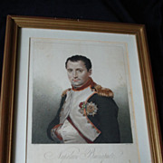 SALE Portrait Engraving Napoleon Bonaparte
