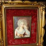 SALE Miniature Portrait Duchess Of Devonshire