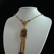 Goldette Lavalier Victorian Style Necklace