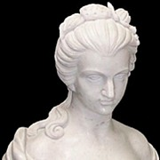 SALE Hand Carved Marble Bust Of Woman