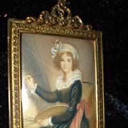 SALE Miniature Self Portrait Vigee Le Brun