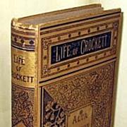 Rare Book 1884 Life Of David Crockett