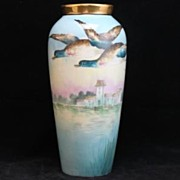 Rare French Limoges Signed Buisson Large Vase