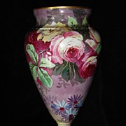 SALE Large Hand Painted Limoges Vase