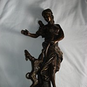 Bronze Statue Of Diana Th Huntress With Dog