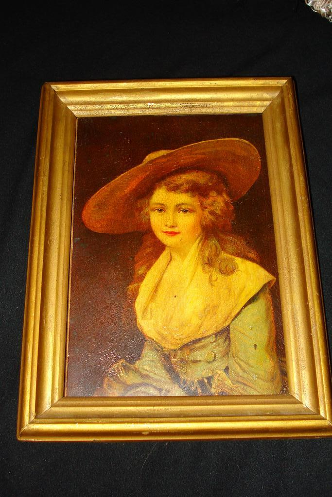 Large  German Porcelain Plaque Duchess Of Devonshire 19th
