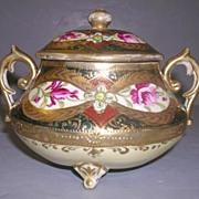 Hand Painted Royal Nippon Kinran Lidded bowl