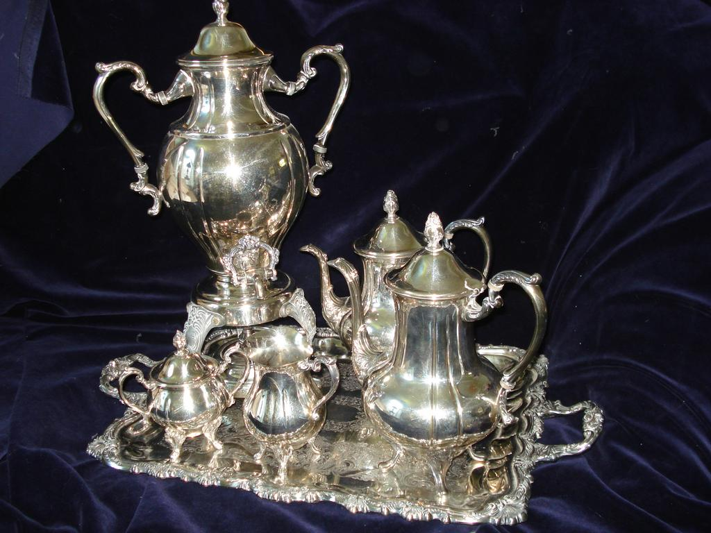 Sheriden 6 pc Silver Plated Formal Tea Service
