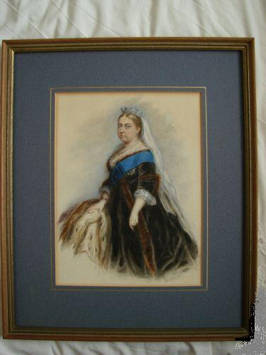 Queen Victoria Water colour Listed Artist George Hamilton Barrable  c19th