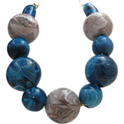Huge  Jaw Breaker Penny Candy Necklace