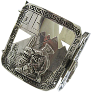 Stunning Peruvian Silver Bracelet 2 inches wise