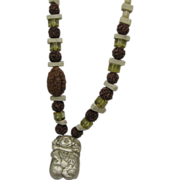 Private Collection Buddha Necklace Carved Mala Nut