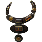 SALE Celluloid /Lucite Snake Root Beer Collar