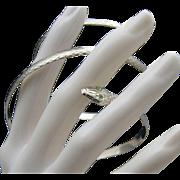 Coiled Wrap Snake Bracelet Green Rhinestone Eyes