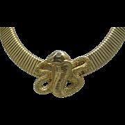 Gas Pipe Coil Corbra Necklace