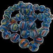 Millefiori Glass Bead Necklace 20 inches