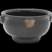 SOLD Chinese Gold Splash 'Bronze' Porcelain Censer MARKED