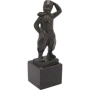 "Art Deco Bronze ""Boy in the Wind"" SIGNED"