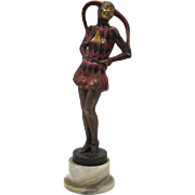 "LORENZL ""Pierrette"" Cold Painted Vienna Bronze SIGNED Art Deco"