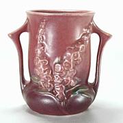 Roseville Pottery Foxglove Vase - 42-4 - Vintage 1940s – Pink