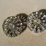 Pair of Antique Paste Buttons Victorian Period ~ Circa 1900