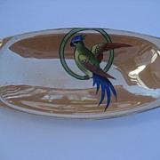 Vintage Noritake Figural Lusterware Art Deco Parrot Dish
