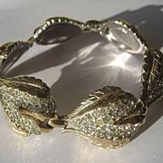 Vintage REJA Pave Rhinestone Link Bracelet ~ Art Deco Period