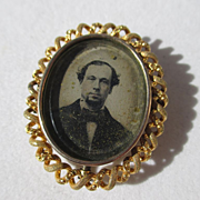SALE Shop Special! Antique 20K Gold Victorian Swivel Mourning Brooch