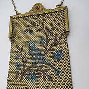 Scarce Single Bluebird Mesh Vintage Purse ~ Elsah