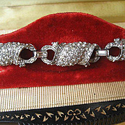 SALE Shop Special! Vintage Art Deco Period Jomaz Rhinestone Link Bracelet