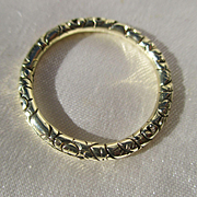 Extra Large Antique 15K Gold Split Ring for Seals and Fobs ~ Georgian Era