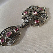 Antique Italian Natural Ruby and Diamond Pendant ~ Georgian Era