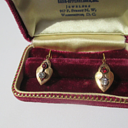 Antique Victorian Paste Earrings in 18K Gold