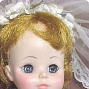Bride Doll C1963 Madame Alexander Original Mary Ann Character & Clothes Plastic All origin