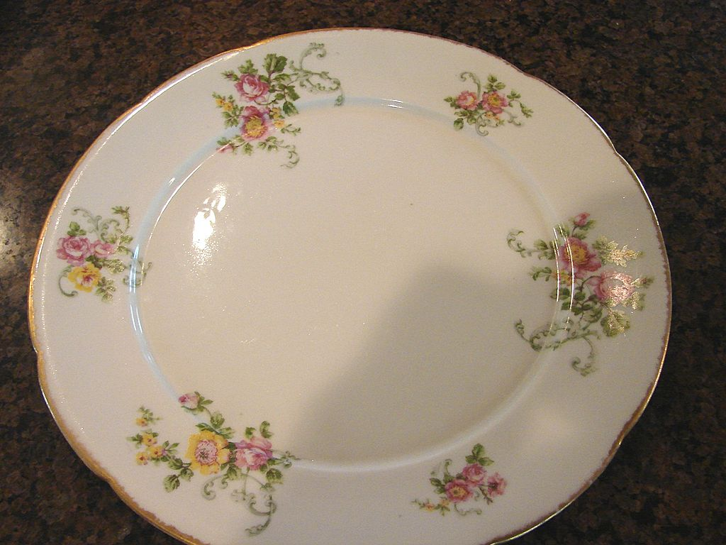 C. Ahrenfeldt Limoges Early Serving Charger Lg. Dinner Plate Hand Painted