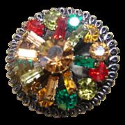 Vintage Multi Color Brooch Pin