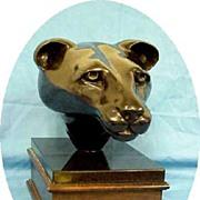 Sculpture Liver Bronze Sculpture Animal Cougar Original Artist Estate  PS Lynch Vintage