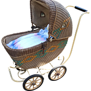 Haywood Wakefield Museum Exhibited Wicker Baby Carriage Buggy