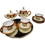 ES Germany Prov SXE Porcelain Tea Set Chocolate Set Egg Shell Porcelain