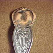 Connecticut State Silver State Spoon Teaspoon Size Rogers 1915 Patent