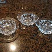 Fostoria Glass American Top Hat Set of 3