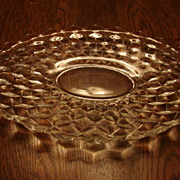 "Fostoria Glass American 13.5"" Torte Serving Platter Tray"