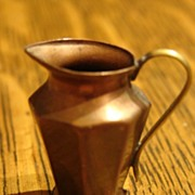 Heirloom Miniature Copper Brass Elegant Pitcher Dollhouse Size free Shipping