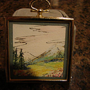 Miniature Dollhouse Pastel Painting Landscape Signe
