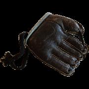 Sports Miniature Mid Century Leather Baseball Glove Mitt