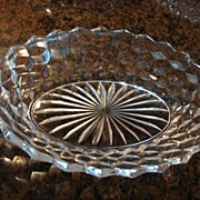 "Fostoria Glass American Pattern 9 ¼"" Oval Vegetable Bowl"