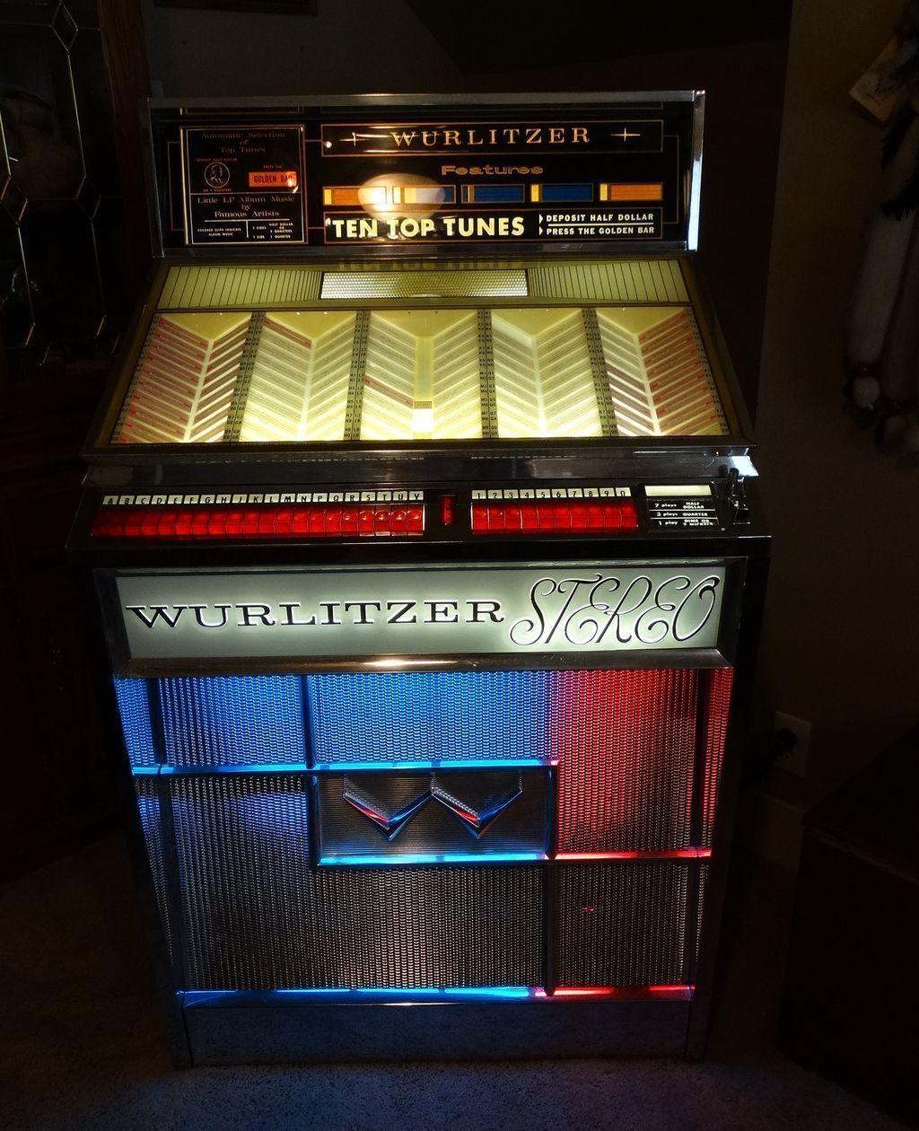1963 Wurlitzer Jukebox Model 2700 Multi Selector Early Stereo Phonograph Professionally Restored Juke Box