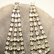 SALE Classic Rhinestone Drop Dangle Pierced Earring set